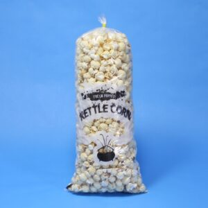 "Pre-printed Kettle Corn Bag ""Fresh Popped Kettle Corn"" - 8"" x 15"" x 1.5mil (12 - 14 cups).  Sold by the case, 1000/cs"